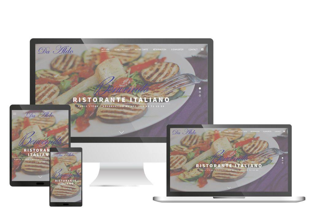 Création site web, Da Aldo