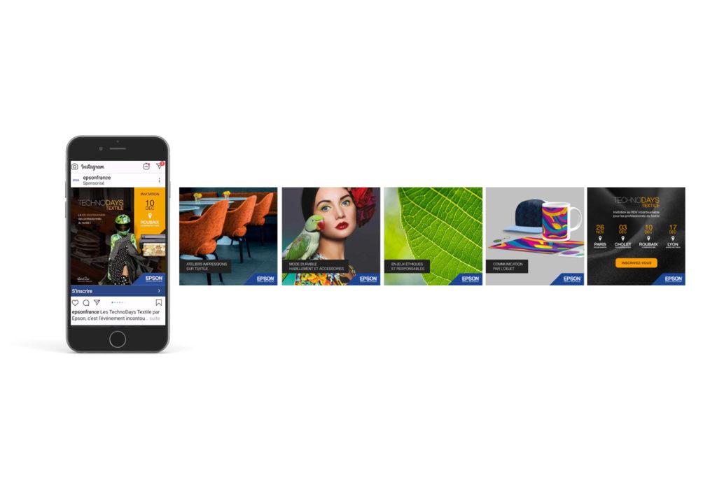 Campagne Instagram sponsorisée pour Les Technodays organisé par Epson