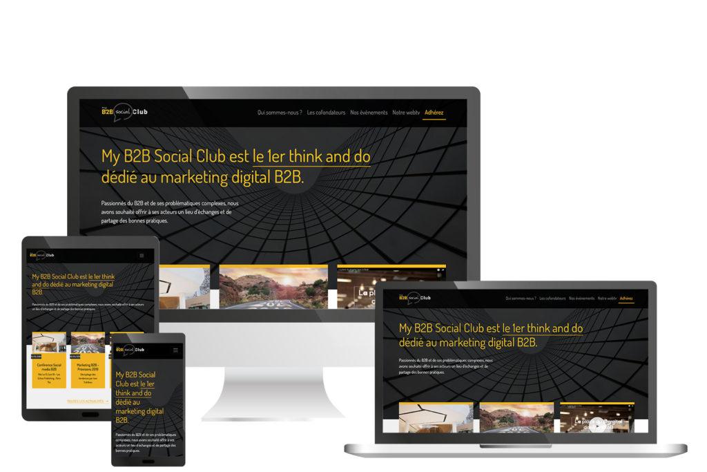Site responsive MyB2BSocialClub
