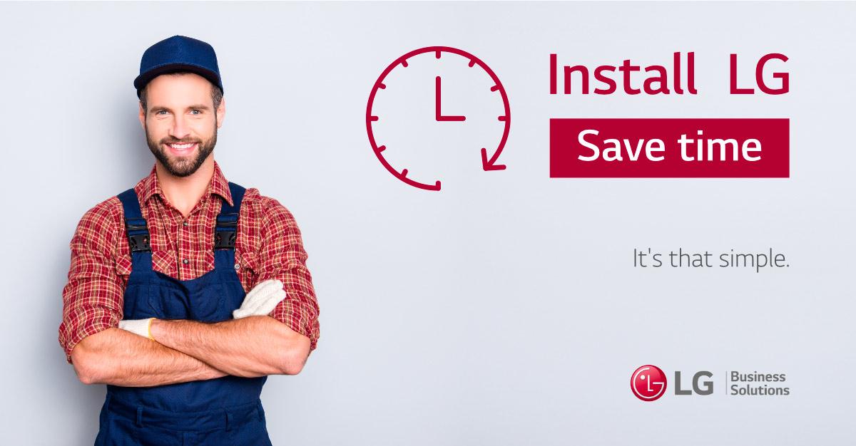 Campagne réseaux sociaux pour LG Business Solutions by Pixeles