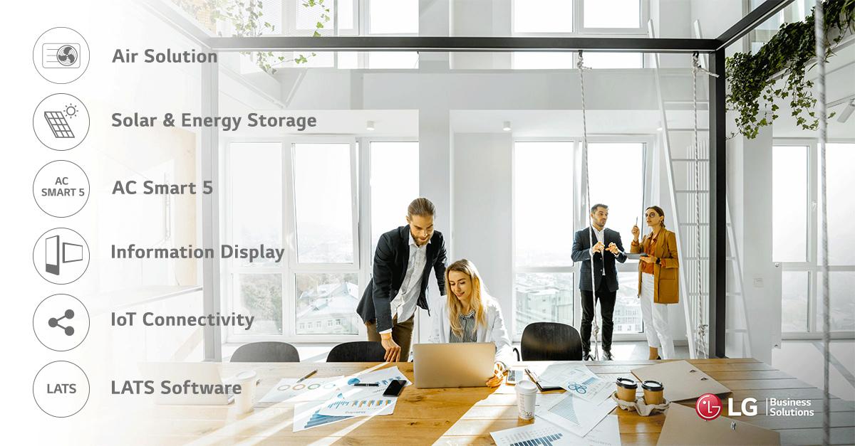 Campagne réseaux sociaux Linkedin LG Business Solutions